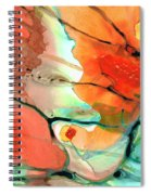 Red Abstract Art - Decadence - Sharon Cummings Spiral Notebook