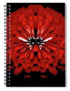 Red Abstract Flower One Spiral Notebook