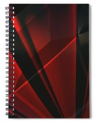 Red Abstractum Spiral Notebook