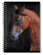Red Ancient Horse No 01 Spiral Notebook