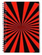 Red And Black Abstract #3 Spiral Notebook