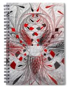 Red And Black -f E- Spiral Notebook