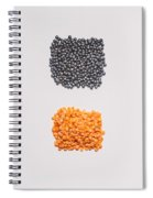 Red And Black Lentils Spiral Notebook