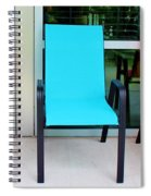 Red And Blue Chairs Spiral Notebook