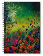 Red And Blue Poppies 67 1524 Spiral Notebook