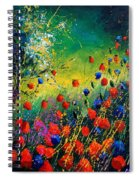 Red And Blue Poppies  Spiral Notebook