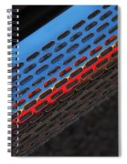 Red And Blue Shine Spiral Notebook