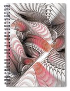 Red And Brown Spiral Notebook