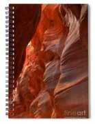 Red And Brown Swirling Sandstone Spiral Notebook