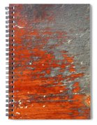 Red And Grey Abstract Spiral Notebook