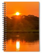 Red And Orange Jungle Sunset Spiral Notebook