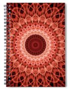 Red And Orange Mandala Spiral Notebook