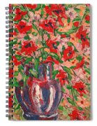 Red And Pink Poppies. Spiral Notebook