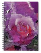 Red And Violet Roses Spiral Notebook