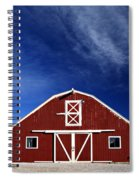 Red And White Barn Spiral Notebook