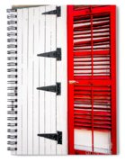 Red And White Entrance-nola Spiral Notebook