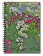 Red And White Roses Bright Toned Abstract Spiral Notebook