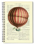 Red And White Striped Hot Air Balloon Antique Photo Spiral Notebook