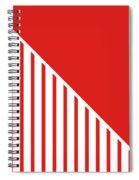 Red And White Triangles Spiral Notebook