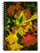 Red And Yellow Flowers Abstract Spiral Notebook