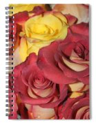 Red And Yellow Roses Spiral Notebook