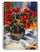 Red Anemones Spiral Notebook