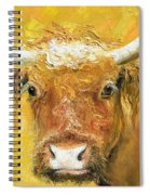 Red Angus Cow Spiral Notebook