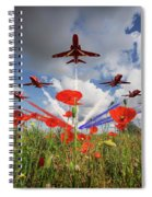 Red Arrows Poppy Fly Past Spiral Notebook