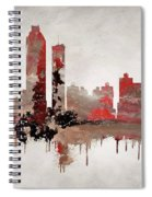 Red Atlanta Georgia Skyline Spiral Notebook