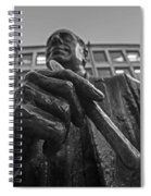 Red Auerbach Chilling At Fanueil Hall Black And White Spiral Notebook