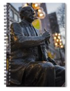 Red Auerbach Chilling At Fanueil Hall Side Spiral Notebook