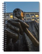 Red Auerbach Chilling At Fanueil Hall Spiral Notebook