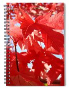 Red Autumn Leaves Art Prints Canvas Fall Leaves Baslee Troutman Spiral Notebook