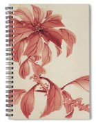 Red Autumnal Leaves Spiral Notebook
