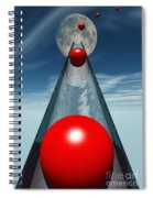 Red Balls From Space Spiral Notebook