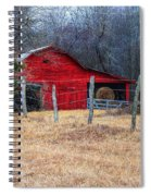 Red Barn A Long The Way Spiral Notebook