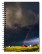 Red Barn And Rainbow Spiral Notebook