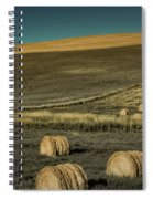 Red Barn At Haying Time Spiral Notebook
