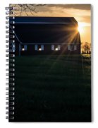 Red Barn At Sunset Spiral Notebook