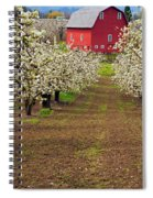 Red Barn Avenue Spiral Notebook