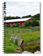 Red Barn By The Lake Spiral Notebook
