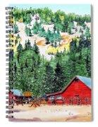 Red Barn In Autumn Spiral Notebook