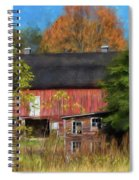 Red Barn In October Spiral Notebook