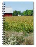 Red Barn In Pasture Spiral Notebook