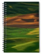 Red Barn In The Morning Sun Spiral Notebook