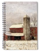 Red Barn In Winter Spiral Notebook
