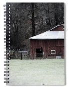 Red Barn On The Drive Spiral Notebook