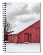 Red Barn On Wintry Day Spiral Notebook