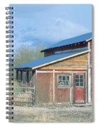 Red Barn, Route 50, Nevada Spiral Notebook