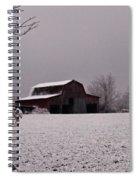 Red Barn Under Snow Spiral Notebook